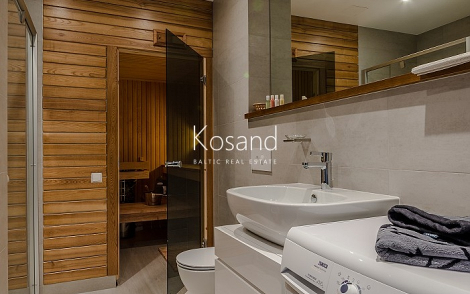 Дизайнерская квартира с сауной