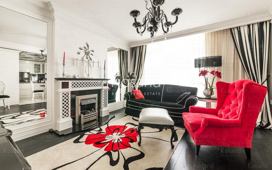Квартира с эксклюзивным интерьером в элитном доме